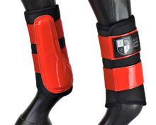 "Load image into Gallery viewer, Black and Red ""Air Vent"" Brushing Boots"