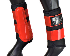 "Black and Red ""Air Vent"" Brushing Boots"