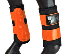 "Load image into Gallery viewer, Black and Orange ""Air Vent"" Brushing Boots"