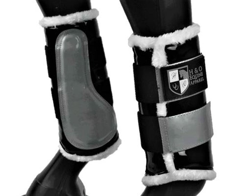 Black & Silver Brushing Boots