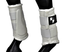 Load image into Gallery viewer, White Deluxe Dressage Brushing Boots