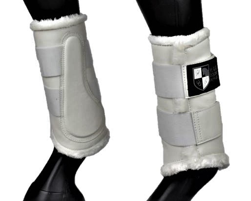 White Deluxe Dressage Brushing Boots