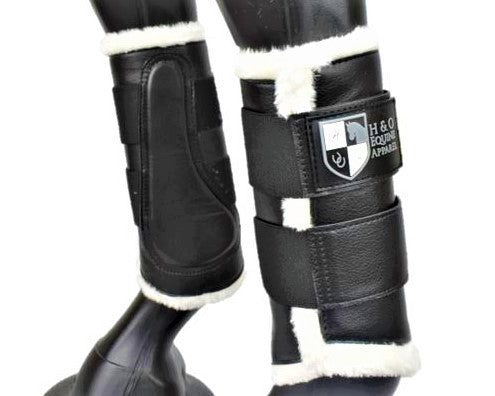 Black Deluxe Dressage Brushing Boots