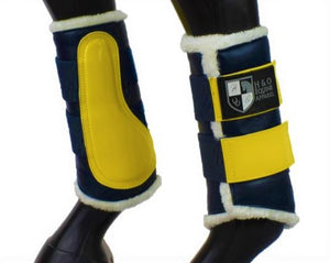 Navy & Yellow Brushing Boots
