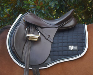 Black/Grey/Silver Forward Cut Saddle Pad