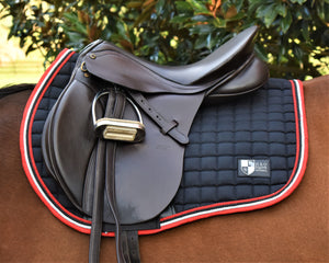 Black/Red/Silver Forward Cut Saddle Pad