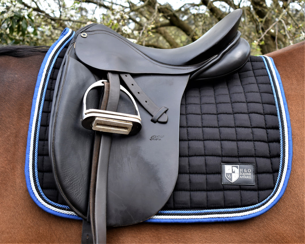 Black/Royal/Silver Saddle Pad