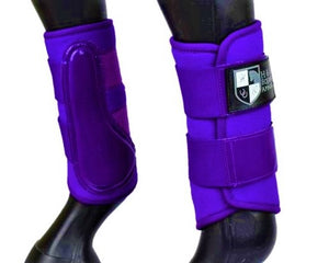 "Purple ""Air Vent"" Brushing Boots"