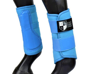 "Light Blue ""Air Vent"" Brushing Boots"