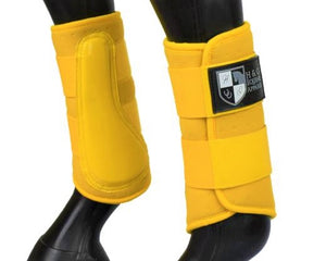 "Yellow ""Air Vent"" Brushing Boots"
