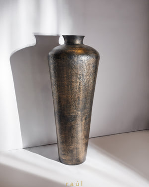 Bee Hammered Vase