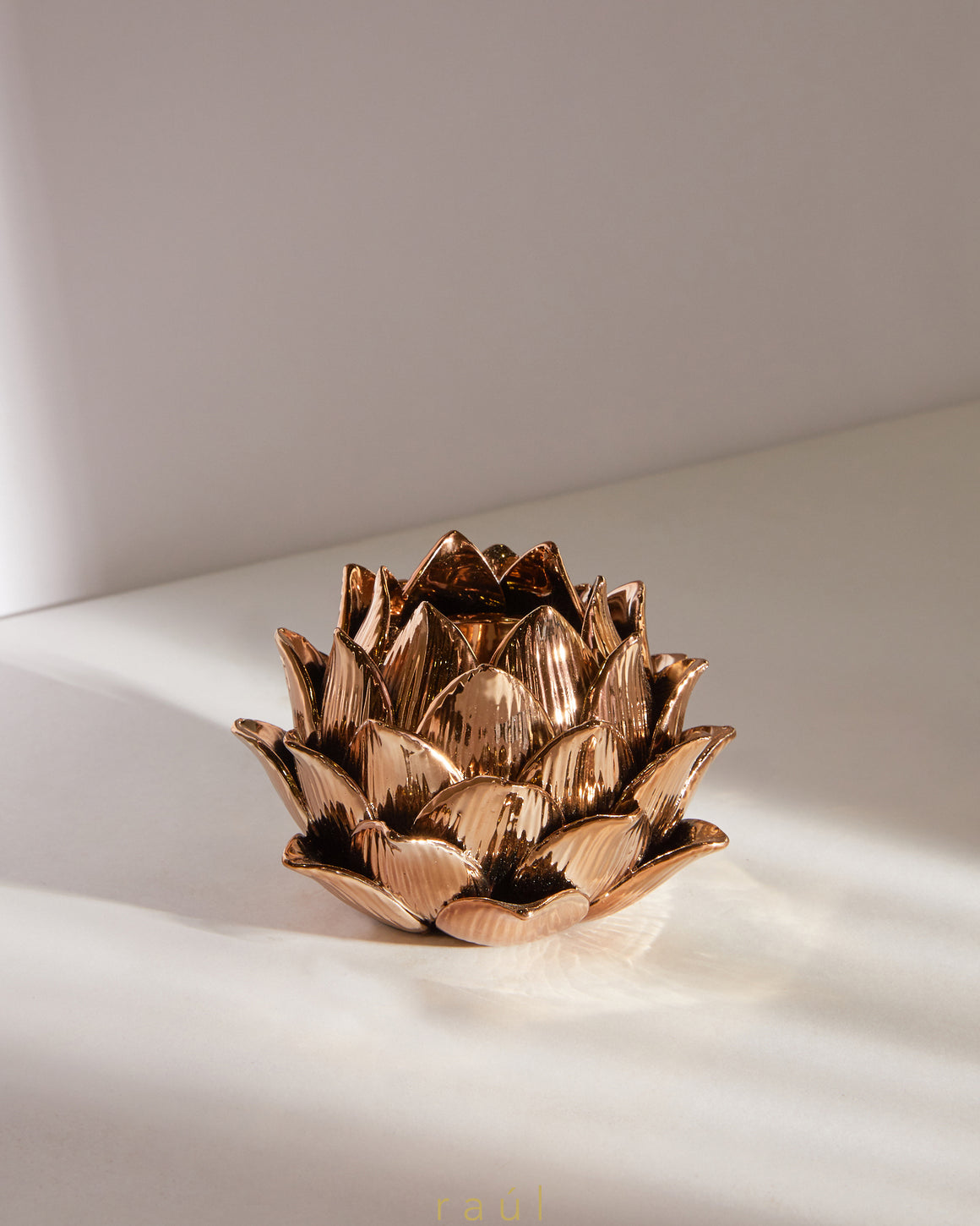 Bronze Lotus Votive