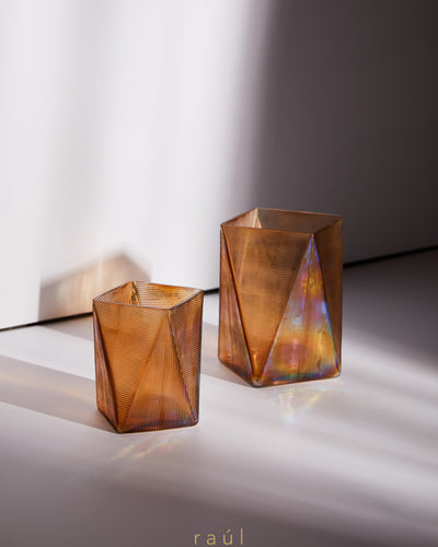 Beige Triangle Tealight