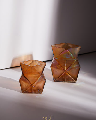 Beige Angular Tealight