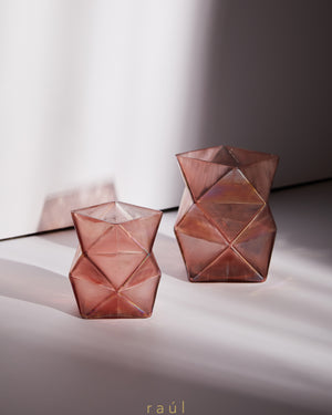 Pink Angular Tealight