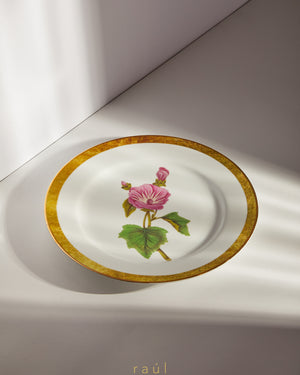 Dog-Rose Decorative Plate