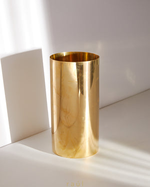 Gold Mirror Vase Large