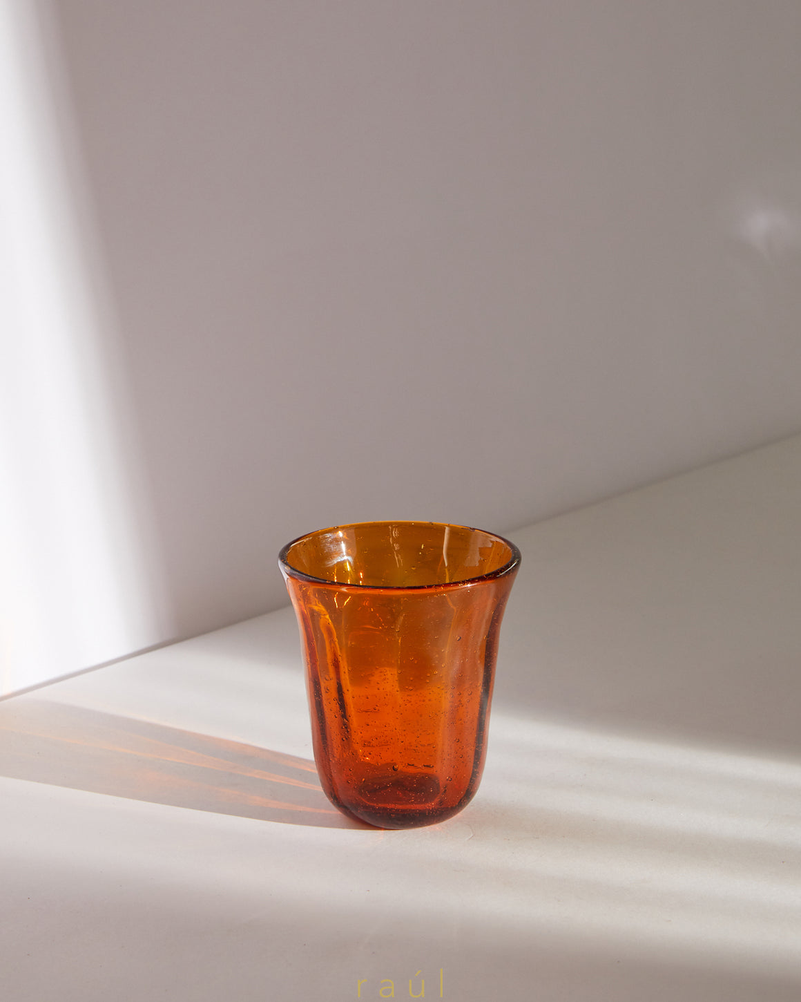 Amber Stemless Glass
