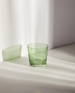 Green Tumbler Glass
