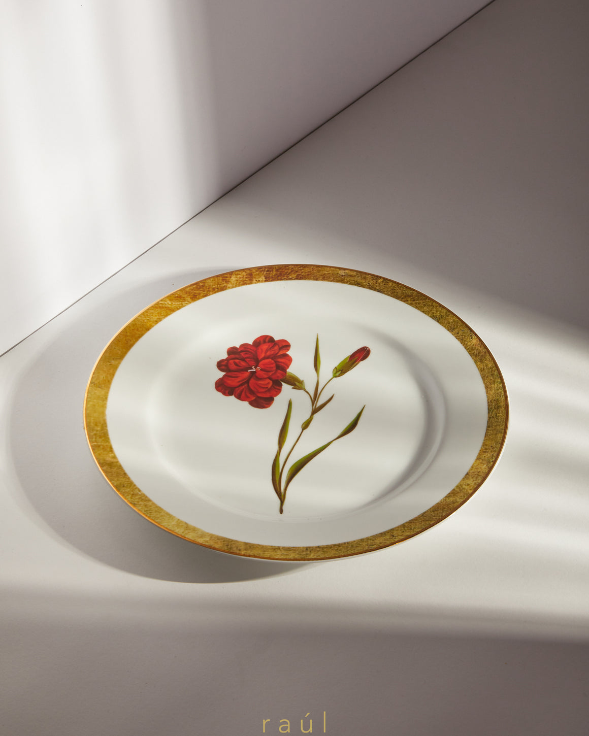 Red Marigold Decorative Plate