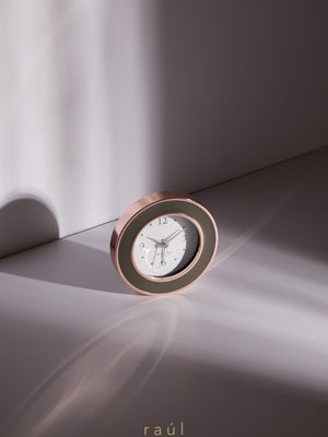 Rose Gold & Taupe Clock