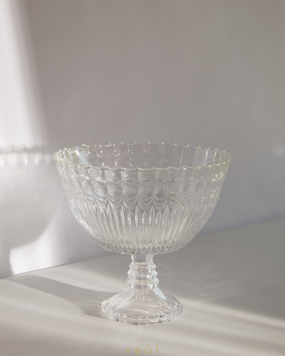 Scalloped Glass Bowl