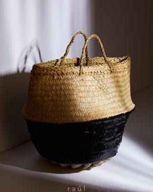 Sequin Basket Black
