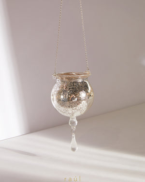 Silver Pendant Hanging Candle Holder