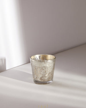 Mercury Silver Tapered Votive
