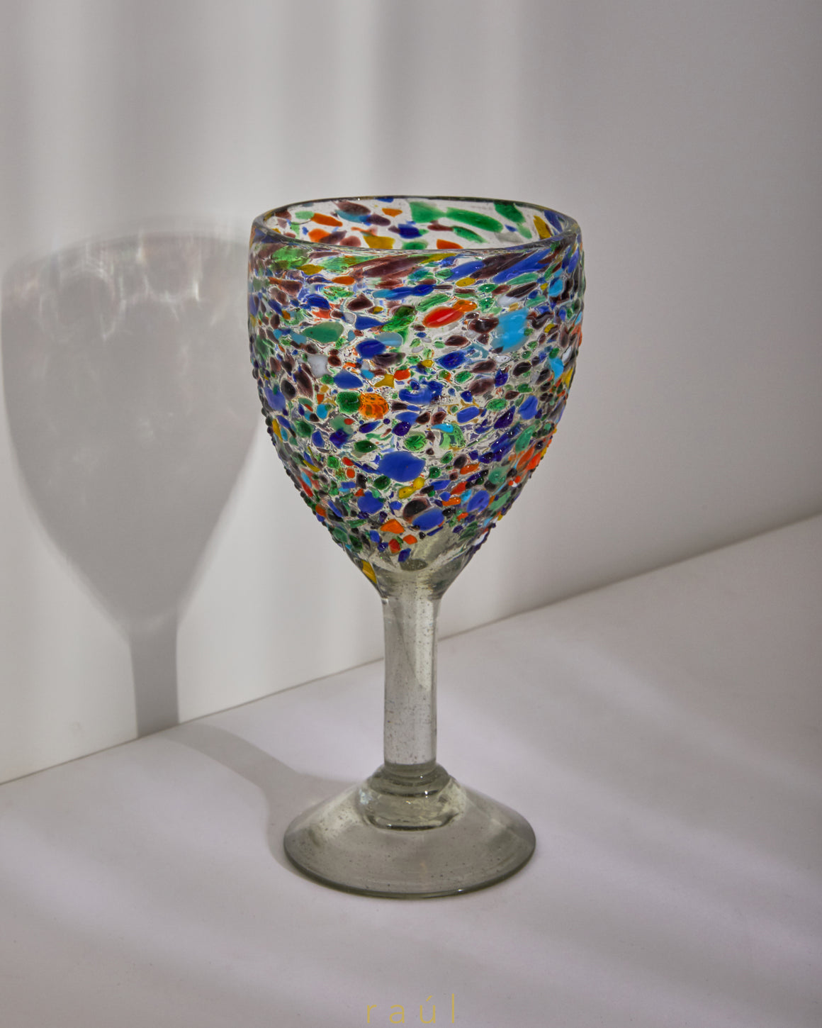 Technicolor Wine Glass