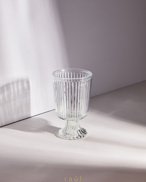 Vicky Glass Footed Vase