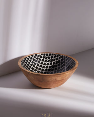 Fishscale Wooden Bowl Medium