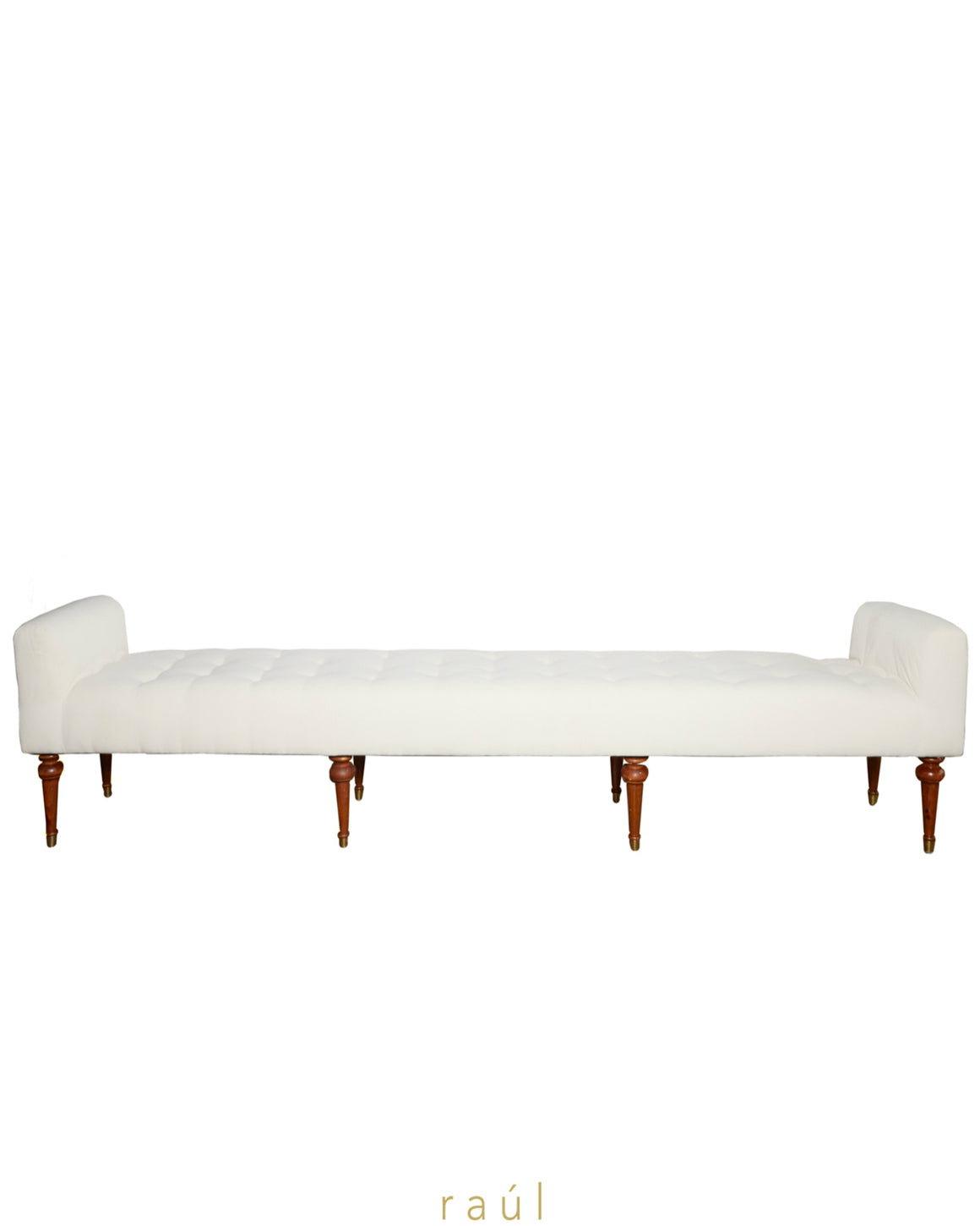 Dove Tufted Bench