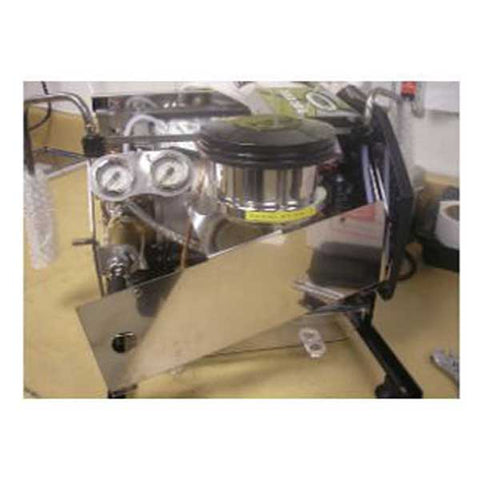 removing the panel underneath the group of a la marzocco gs3