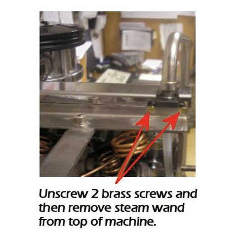 removing the steam wand on the la marzocco gs3