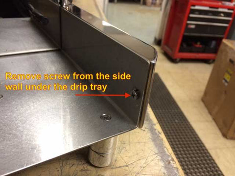 remove the lower trim for the side panel of your quick mill