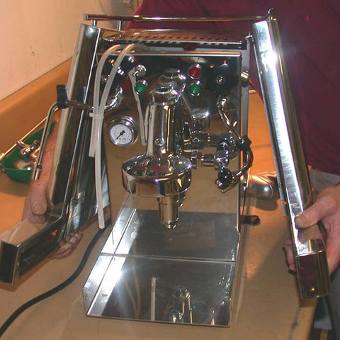 removing the shell from the andreja premium espresso machine