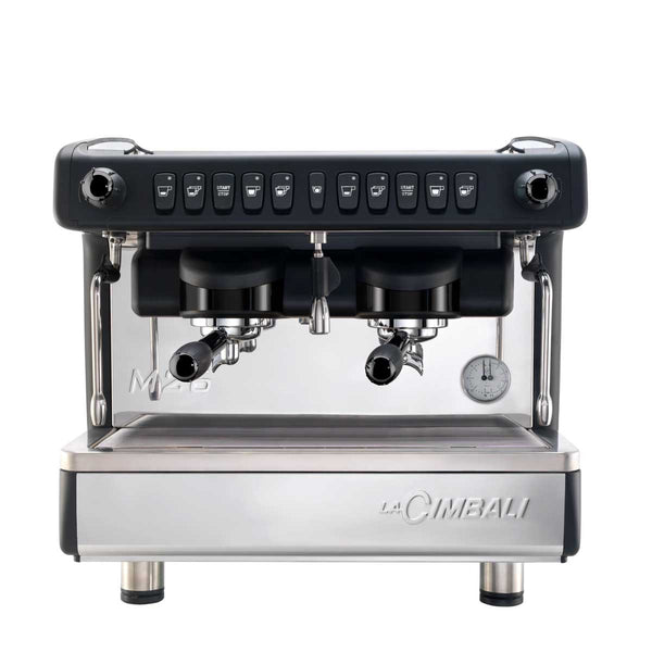 la cimbali m26 BE two group commercial espresso machine front