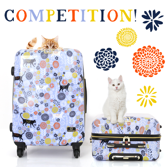 Halina vicky yorke urban jungle cat carry-on - social media giveaway