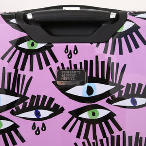 "Halina Bouffants & Broken Hearts BOLD EYES 20"" Carry On Luggage (Lock Version)-HALINA - Made with Love"