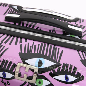 "Halina Bouffants & Broken Hearts BOLD EYES 28"" Luggage (With Lock)-HALINA - Made with Love"