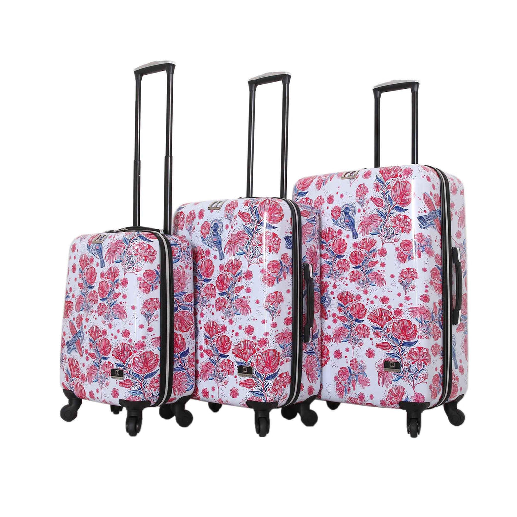 Halina Car Pintos FLY 3 Piece Floral Luggage Set-HALINA - Made with Love