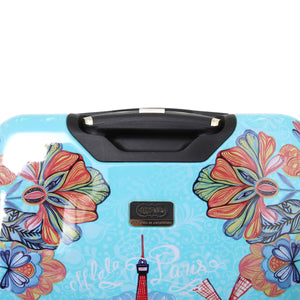"Halina Car Pintos OH LA LA 20"" Floral Cartoon Carry On Luggage-HALINA - Made with Love"