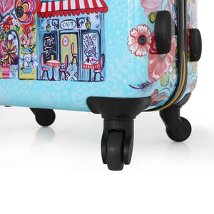 Halina Car Pintos OH LA LA 3 Piece Floral Cartoon Luggage Set-HALINA - Made with Love