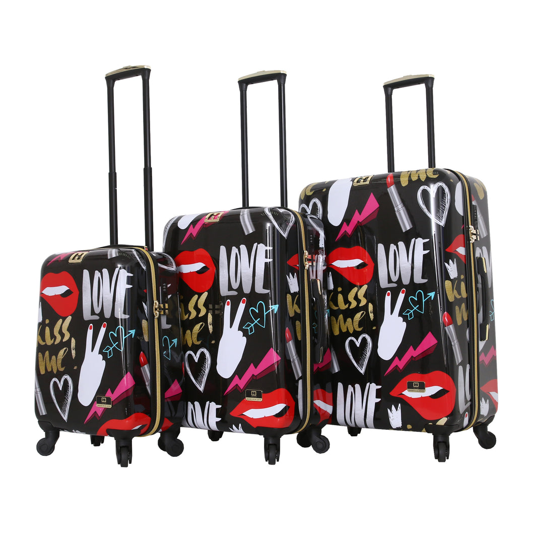 Halina Nikki Chu KISS ME 3 Piece Cute Luggage Set (Lock Version)-HALINA - Made with Love