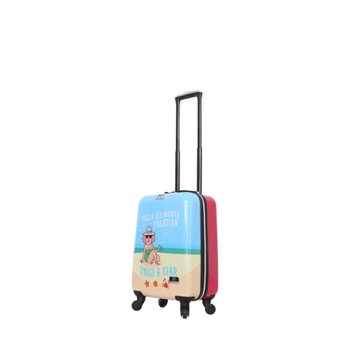 Halina Aunty Acid Beach Vacation Graphic Cartoon Carry On Luggage - 20 Inches-HALINA - Made with Love