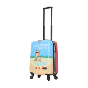Halina Aunty Acid Beach Vacation Graphic Cartoon Carry On Luggage (Lock Version)-HALINA - Made with Love