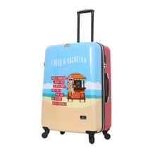 Load image into Gallery viewer, Halina Aunty Acid Beach Vacation Cartoon Graphic Luggage 28 Inches (Lock Version)-HALINA - Made with Love