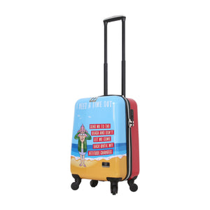 "Halina Aunty Acid Trip 20"" Cartoon Graphic Carry On Luggage (Lock Version)-HALINA - Made with Love"