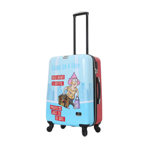 "Halina Aunty Acid Trip 24"" Cartoon Graphic Luggage (Lock Version)-HALINA - Made with Love"
